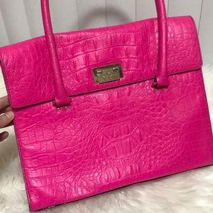 Hot pink Kate Spade briefcase bag damaged in move